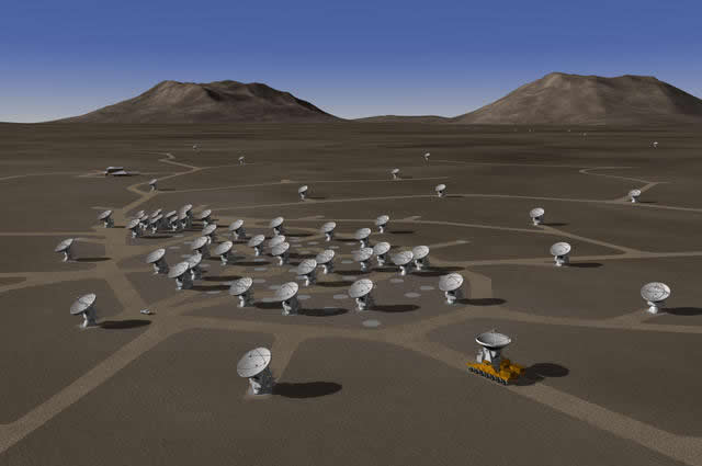 ALMA array with roads