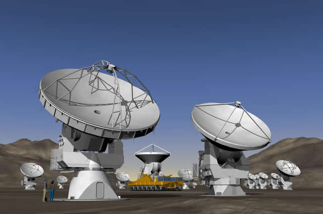 Artists conception of the antennas for ALMA